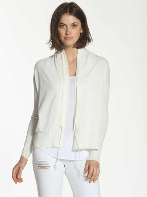 String Tie Cardigan - White