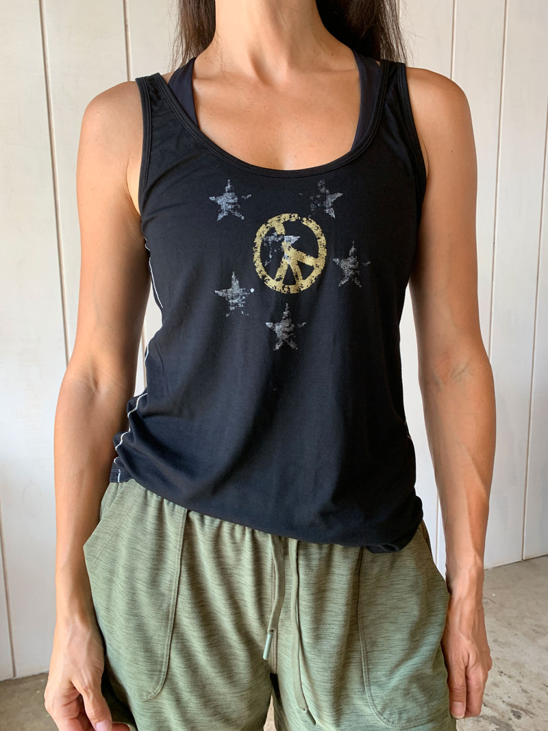 Graphic Tank Peace - Black