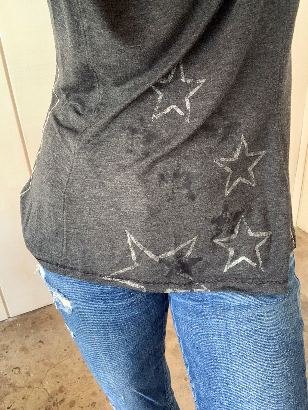 Graphic LS Tee Stars - Charcoal