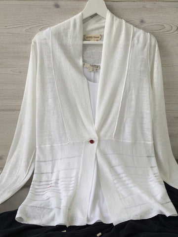 Drop Stitch Cardigan - White