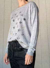 Starry Skull Scoop - Grey