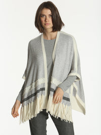 Luxe Whipstitch Poncho - Pumice