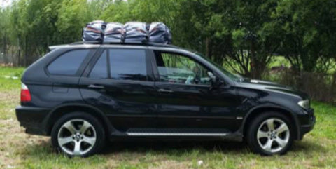 Make space with Road Trip Kit waterproof car rooftop bags - no roof racks or boxes required!
