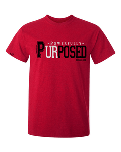 Powerfully Purposed Classic Fit Men's Tee - Small / Antique Cherry - Christian T-Shirt | Christian Gifts | Christian Apparel - 1