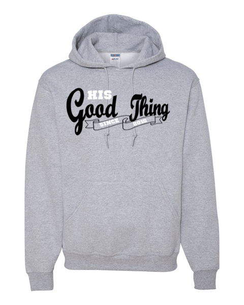 His Good Thing Since....Custom Ladies Hoodie - Small / Athletic Heather - Christian T-Shirt | Christian Gifts | Christian Apparel - 6