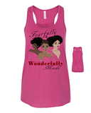 Fearfully and Wonderfully Made II Flowy Racerback Tank - Small / Berry - Christian T-Shirt | Christian Gifts | Christian Apparel - 3