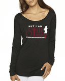Still Standing Women's Triblend Long Sleeve Scoop Neck - Small / Black - Christian T-Shirt | Christian Gifts | Christian Apparel - 1