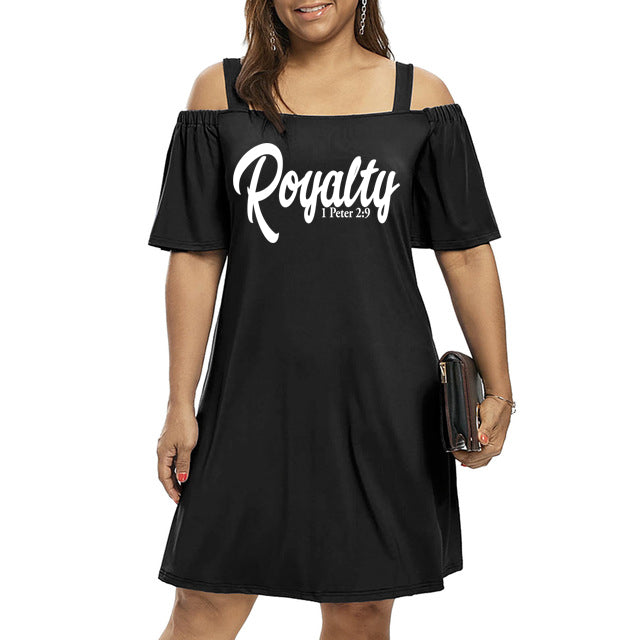 Royalty Cold Shoulder Dress (Plus Size)