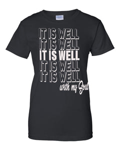 It is Well With My Soul Crew Neck Tee (Short Sleeve)