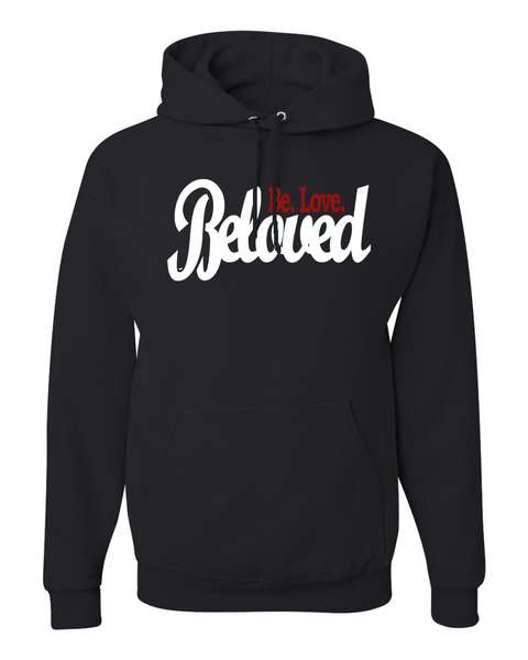 Beloved.Be.Love. Women's Hoodie - Small / Black - Christian T-Shirt | Christian Gifts | Christian Apparel - 2