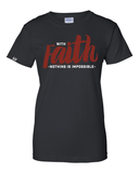 With Faith Women's Crew Neck Tee -  - Christian T-Shirt | Christian Gifts | Christian Apparel - 2