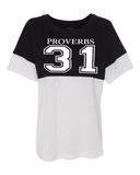 Proverbs 31 Women's Pom Pom Jersey - Small / Black - Christian T-Shirt | Christian Gifts | Christian Apparel - 7