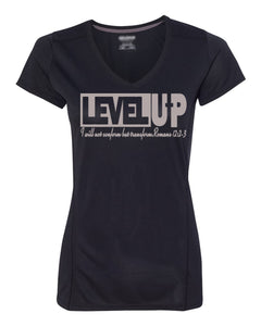 Level Up Womens V-Neck Performance T-Shirt