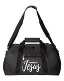 Powered by Jesus Duffel Bag
