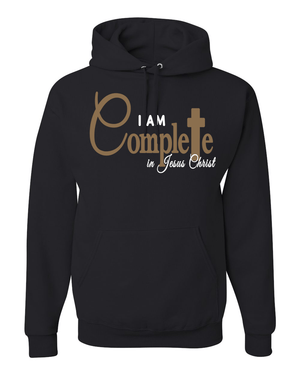 I Am Complete Hooded Sweatshirt - Small / Black - Christian T-Shirt | Christian Gifts | Christian Apparel - 3