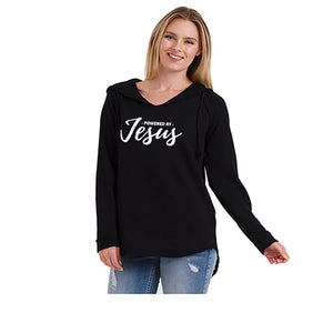 Powered by Jesus Vintage Hooded Tunic