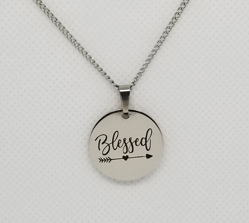 Blessed Pendant Stainless Steel Necklace