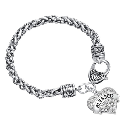 Blessed Heart Shape Charm Bracelet