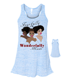 Fearfully and Wonderfully Made II Flowy Racerback Tank - Small / True Royal - Christian T-Shirt | Christian Gifts | Christian Apparel - 5