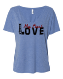 Jesus:  My First Love Ladies' Slouchy V-Neck Christian T-Shirt -  - Christian T-Shirt | Christian Gifts | Christian Apparel - 3