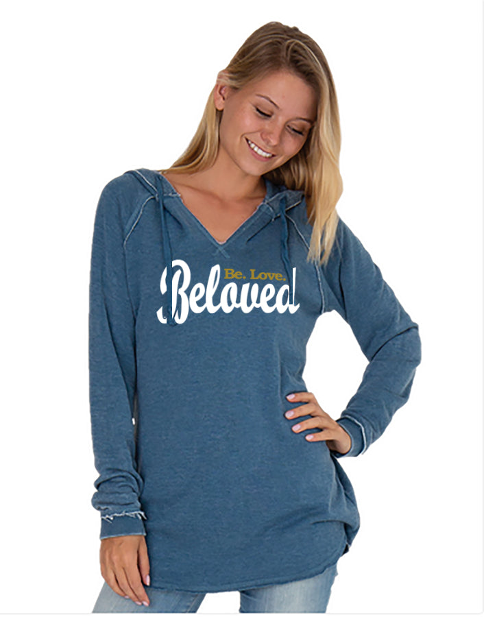 Beloved. Be.Love. Vintage Hooded Tunic