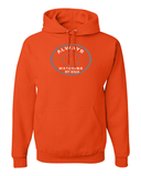 He's Always Watching My Back Hooded Sweatshirt - Small / Burnt Orange - Christian T-Shirt | Christian Gifts | Christian Apparel - 3