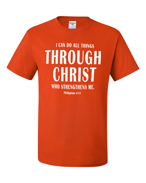 I Can Do All Things Through Christ Mens Performance T-Shirt