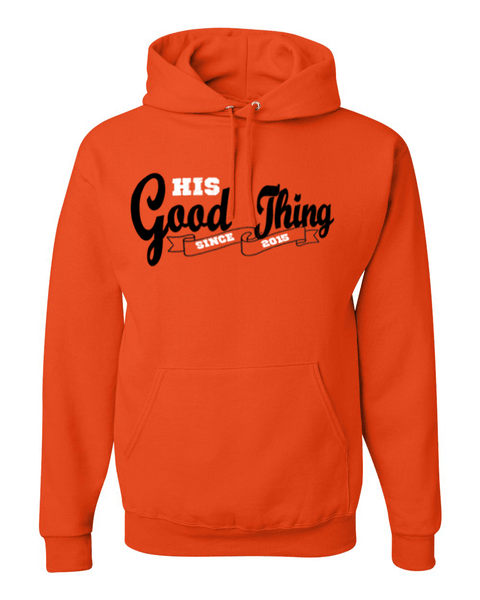 His Good Thing Since....Custom Ladies Hoodie - Small / Burnt Orange - Christian T-Shirt | Christian Gifts | Christian Apparel - 9