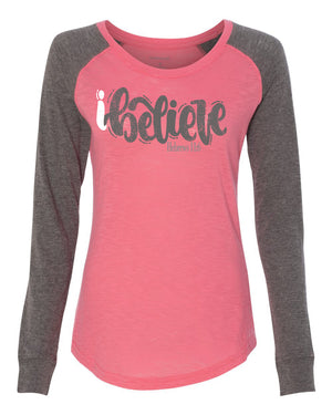 iBelieve Light Weight Preppy Patch T-Shirt