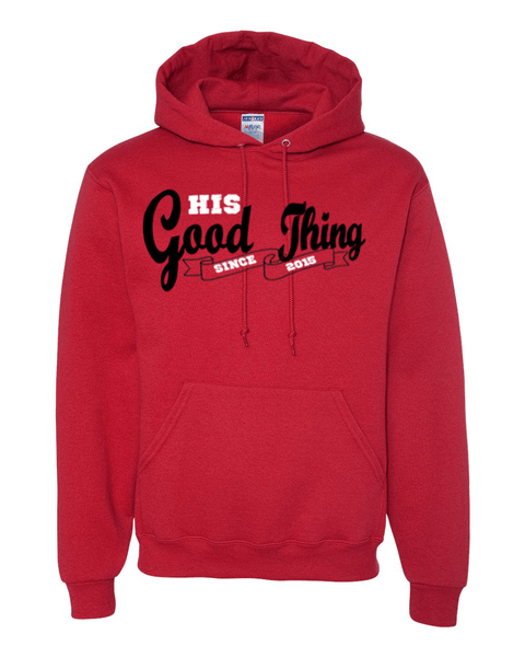 His Good Thing Since....Custom Ladies Hoodie - Small / Crimson - Christian T-Shirt | Christian Gifts | Christian Apparel - 8