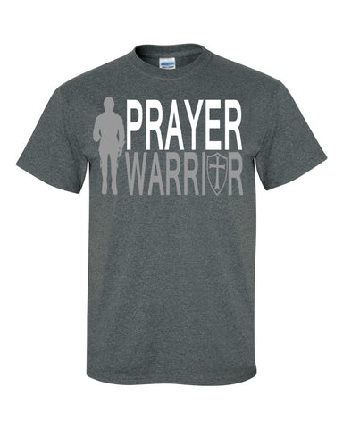 Prayer Warrior Men's Cotton Crew Neck Tee