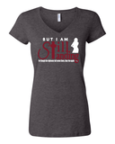 Still Standing Women's V-Neck Tee - Small / Dark Heather - Christian T-Shirt | Christian Gifts | Christian Apparel - 2