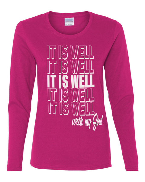 It is Well With My Soul Crew Neck Tee (Long Sleeve)