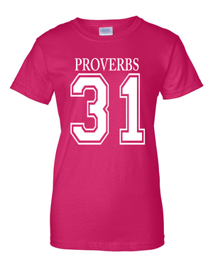 Proverbs 31Classic Fit Crew Neck Tee *Ships Same Day* - Small / Dark Pink - Christian T-Shirt | Christian Gifts | Christian Apparel - 2