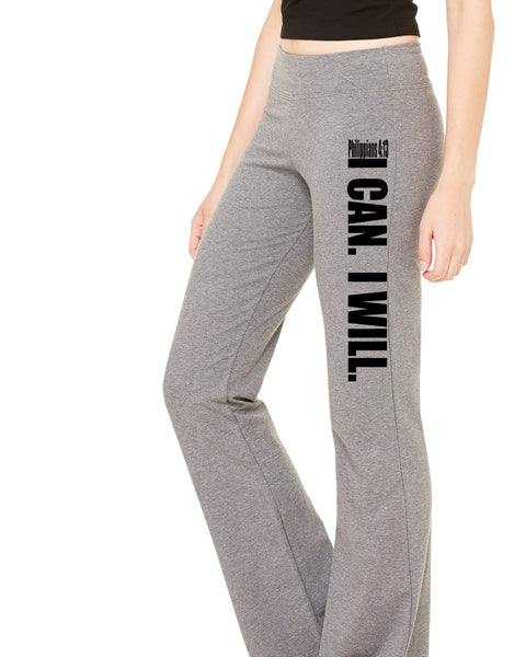 I Can. I Will. (Philippians 4:13) Fitness Pants