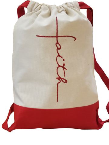 Faith Drawstring Backpack
