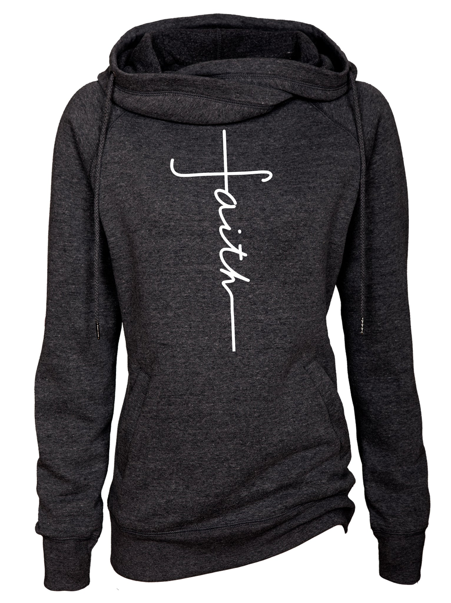 Faith Funnel Neck Hooded Sweatshirt
