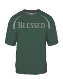 Blessed Mens Performance Christian T-Shirt - Small / Forest/Steel - Christian T-Shirt | Christian Gifts | Christian Apparel - 2