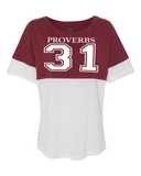 Proverbs 31 Women's Pom Pom Jersey -  - Christian T-Shirt | Christian Gifts | Christian Apparel - 6