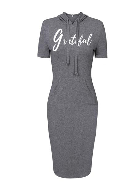 Grateful Women's Hooded Dress (Short Sleeve)
