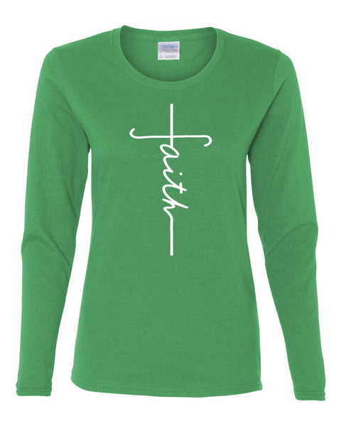 Faith Crew Neck Tee (Long Sleeve)