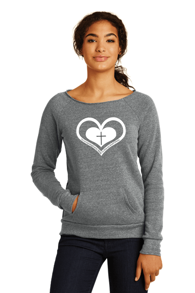 Whom My Heart Trust Womens Sweatshirt - Small / Grey - Christian T-Shirt | Christian Gifts | Christian Apparel - 2