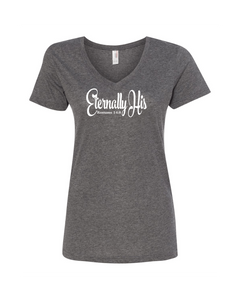 Eternally His Ladies V-Neck Tee