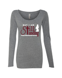 Still Standing Women's Triblend Long Sleeve Scoop Neck - Small / Grey - Christian T-Shirt | Christian Gifts | Christian Apparel - 3