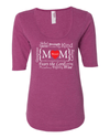 Blessed Mom Women's 1/2 Length Sleeve Tee - S / Heather Raspberry - Christian T-Shirt | Christian Gifts | Christian Apparel - 4
