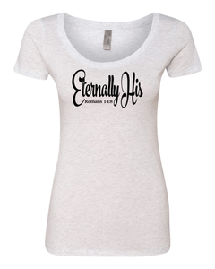Eternally His Ladies Slim Fit Tri-Blend Scoop
