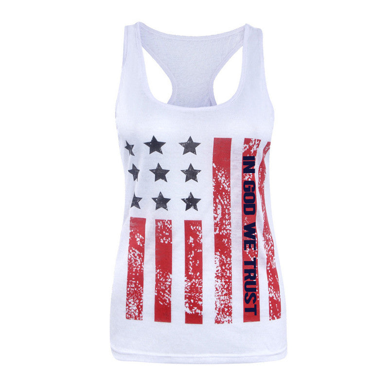 In God We Trust American Flag Tank Top