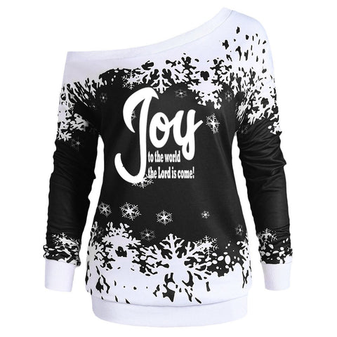 Joy to the World Off the Shoulder Top (Plus Size)