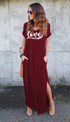 Love Always Maxi Dress (V-Neck)