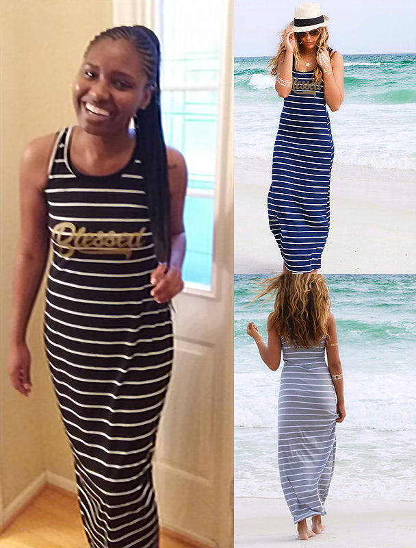 Blessed Sleeveless Maxi Dress